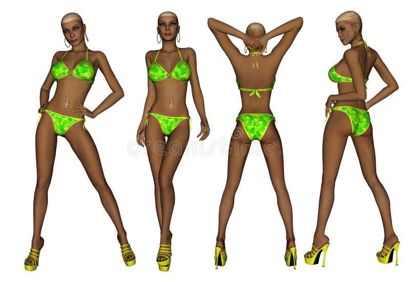 Download African American Bikini Woman Stock Illustration - Image: 26038362