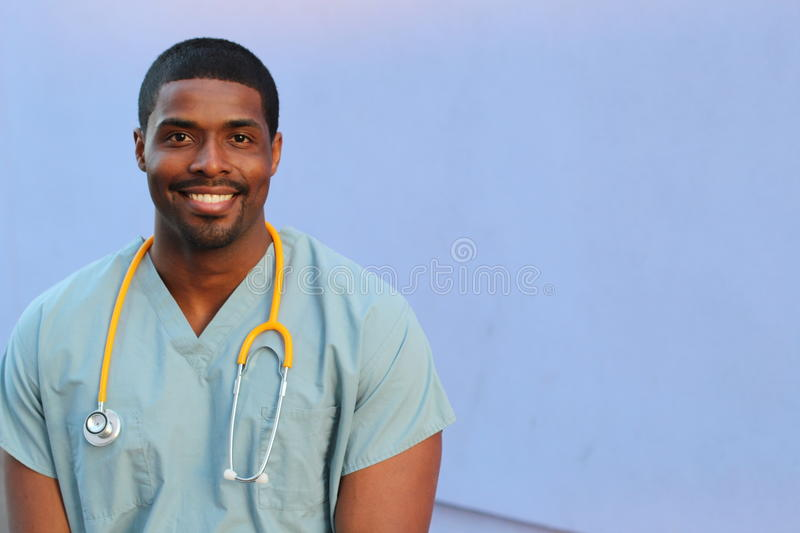 African American black health care professional with copy space royalty free stock photo