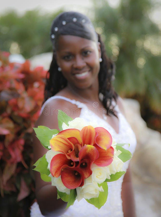 African American Bride Stock Photography
