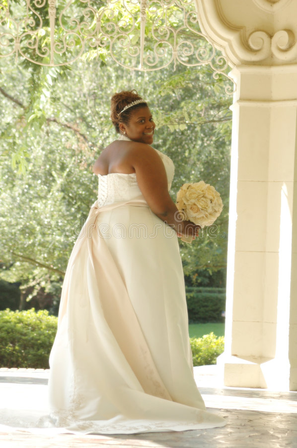 African American Bride royalty free stock images