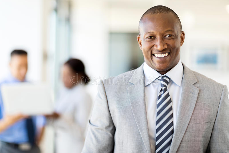 African american business executive. Good looking african american business executive royalty free stock photography