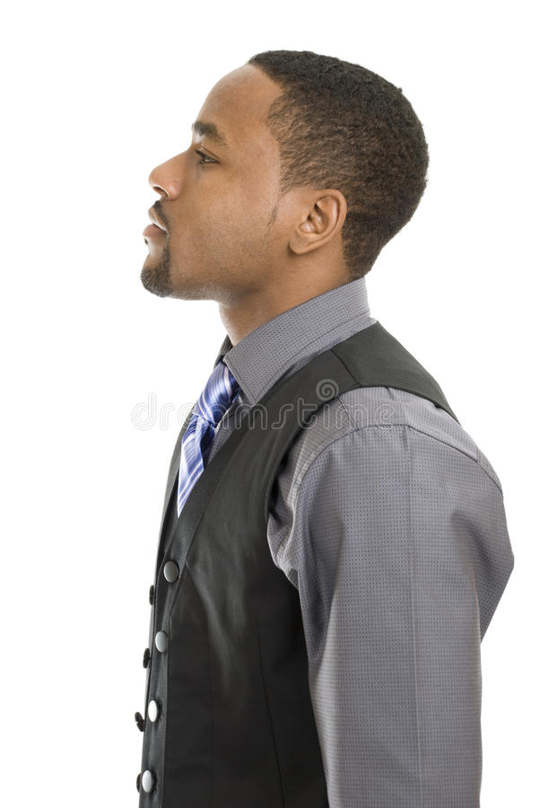 Free African American Business Man Looking Into Space Stock Photo - 12709700