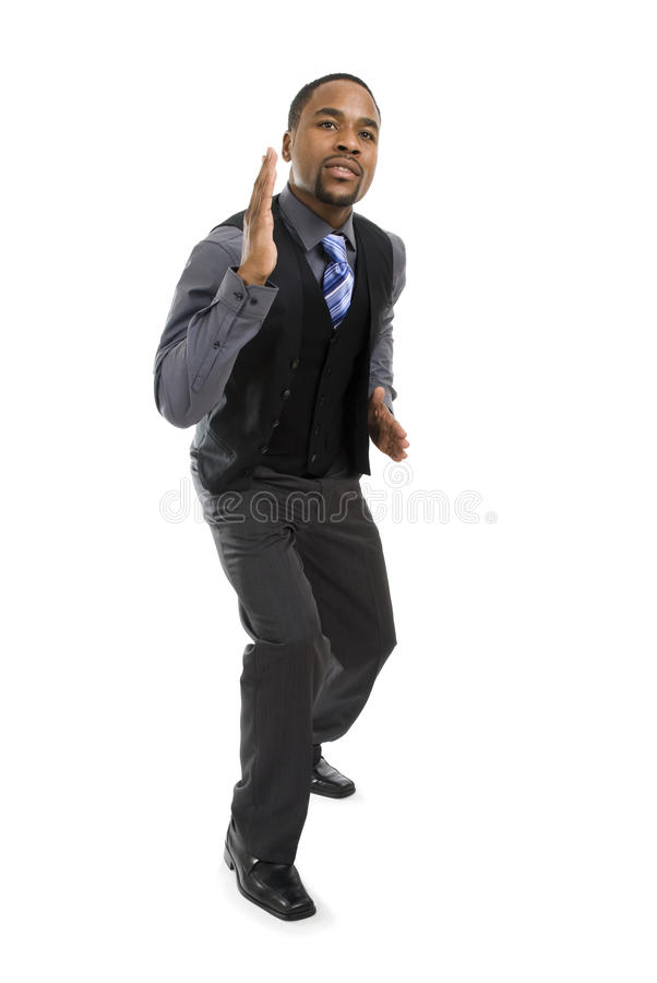 Download African American Business Man Ready To Run Stock Image - Image: 12710265