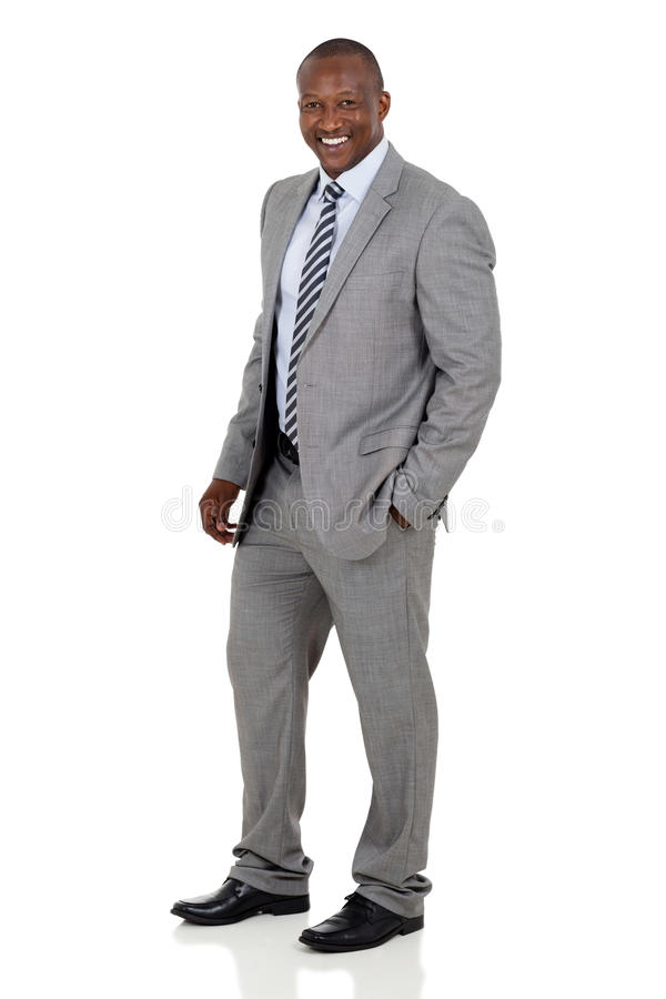 African american business man. Successful african american business man on white background stock images