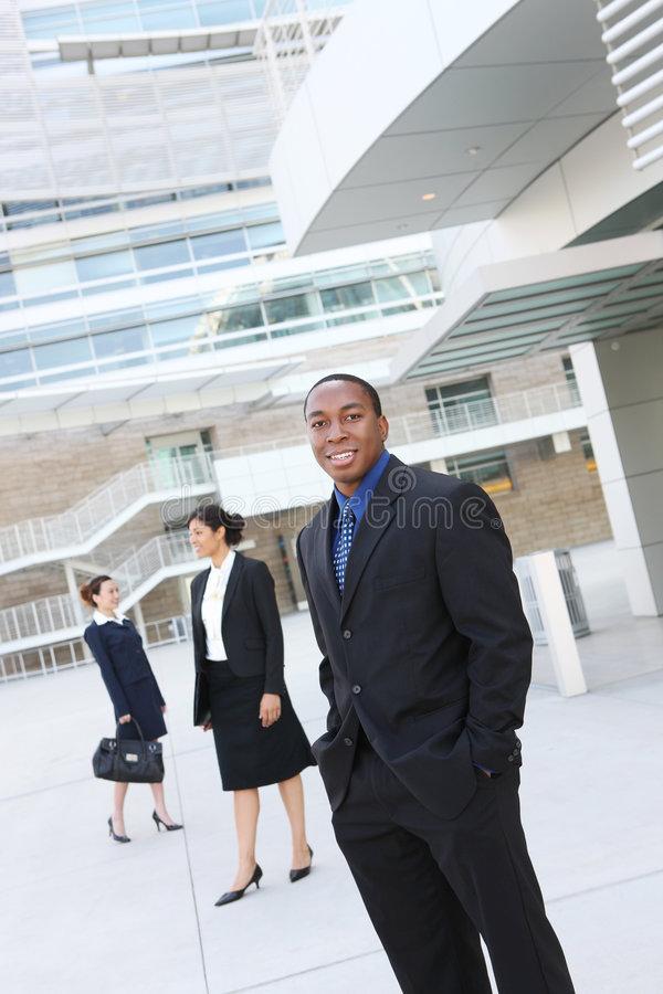 African American Business Man with Team royalty free stock photos