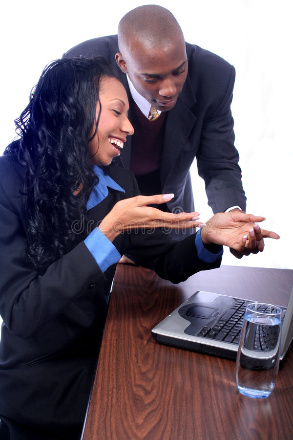 African American Business Partners royalty free stock images