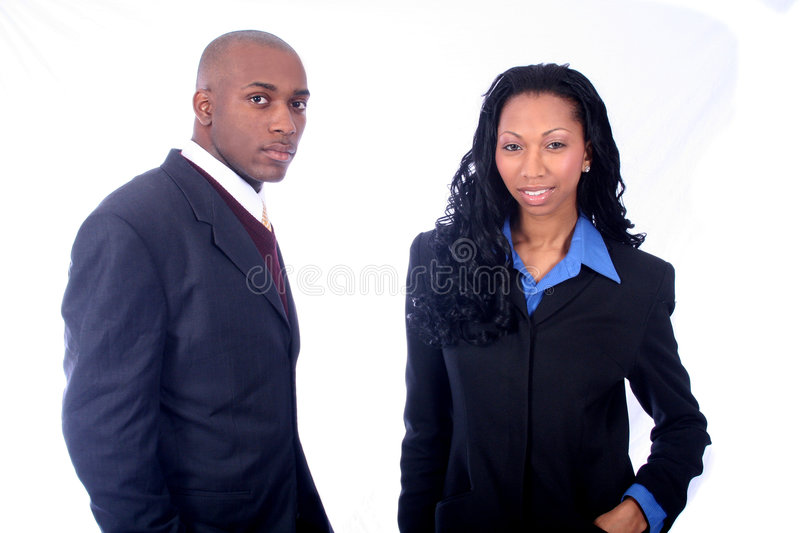 African American Business People. African American Business Man and Woman stock images