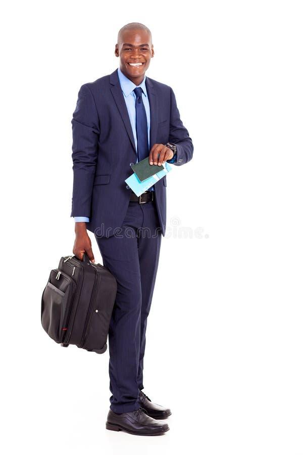 African american business traveller