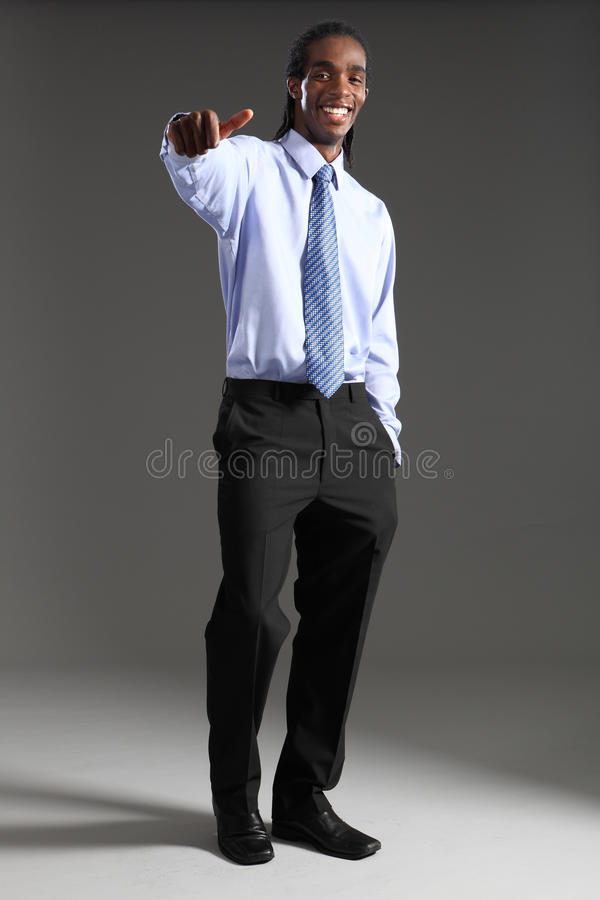 Download African American Businessman Thumbs Up Success Stock Image - Image: 20975789