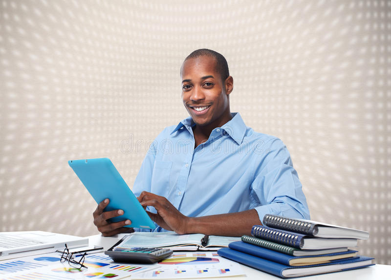 African american businessman. royalty free stock photo