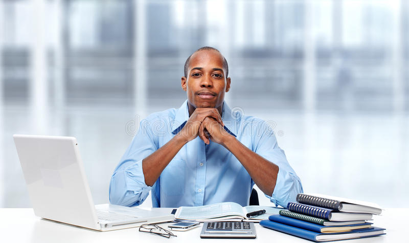 African american businessman. royalty free stock images