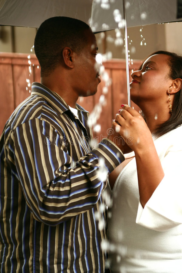 African American Couple Under royalty free stock photography