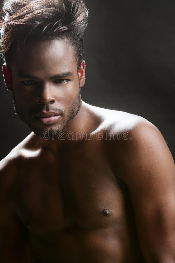 African american cute black young man portrait royalty free stock image
