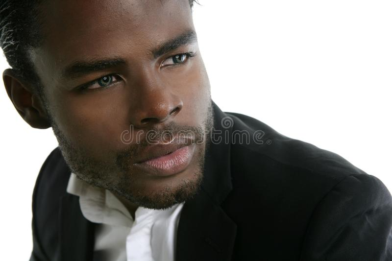 African american cute black young man portrait royalty free stock images