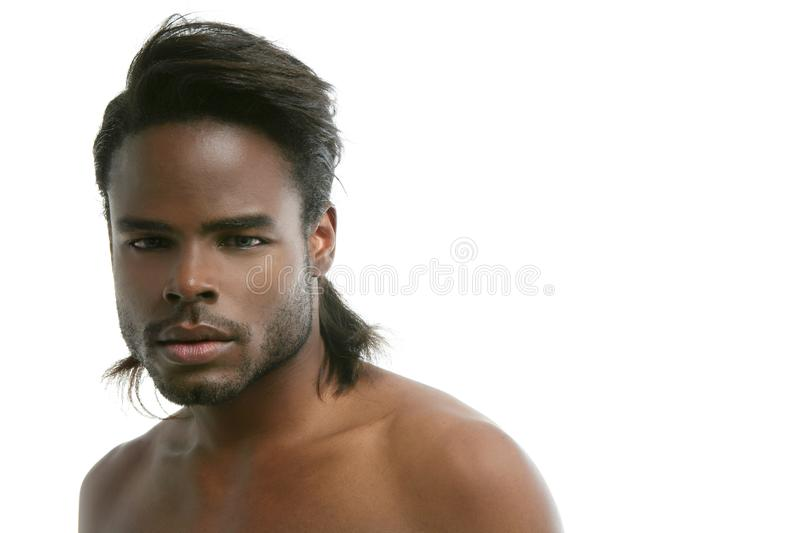 African american cute black young man portrait royalty free stock photos