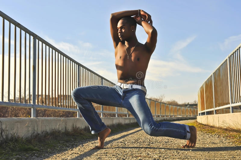 Download African American dancer. stock image. Image of fence - 22727095