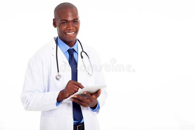 Download African american doctor stock photo. Image of half, computer - 29471194