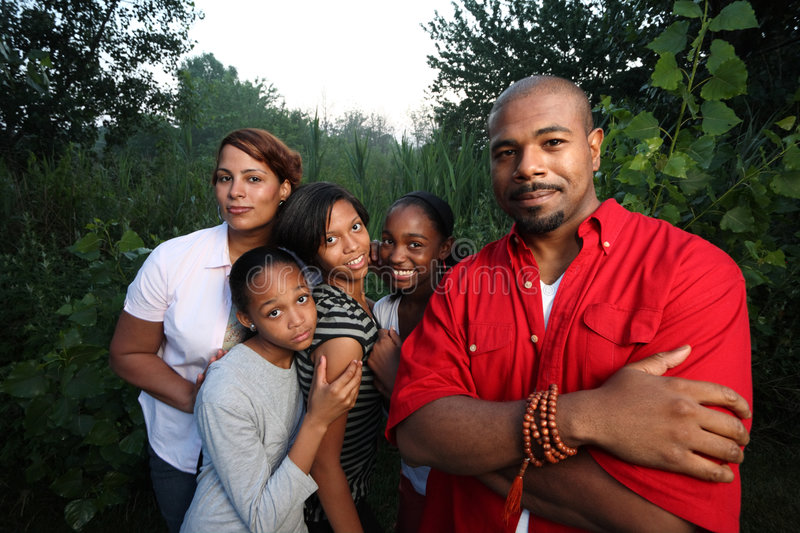 African American family stock photo