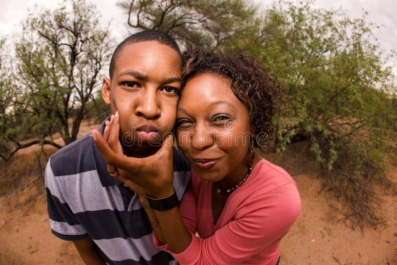 Download African-American Family Making Faces Stock Image - Image of pink, handsome: 15544539