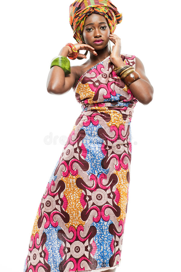 African-american fashion model. stock image