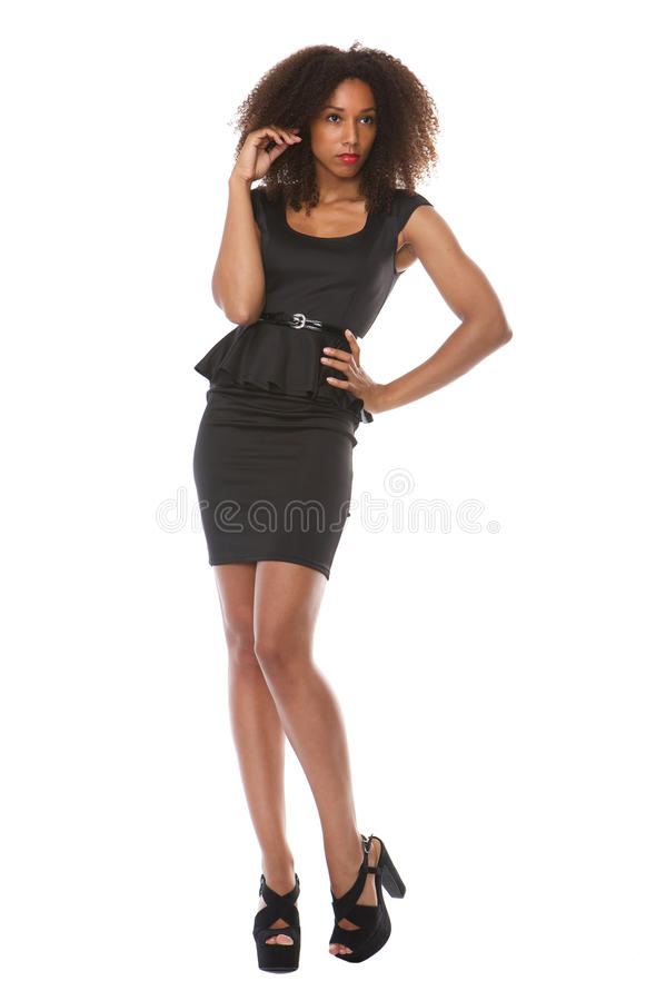 African american female fashion model royalty free stock photography