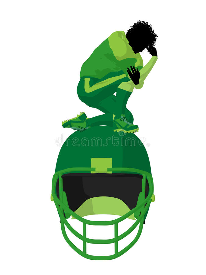 Download African American Female Football Player Stock Illustration - Image: 16427505