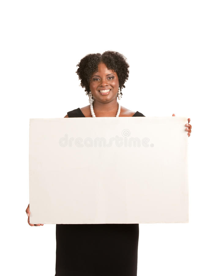 Download African American Female Holding Blank Board Stock Image - Image: 20910805