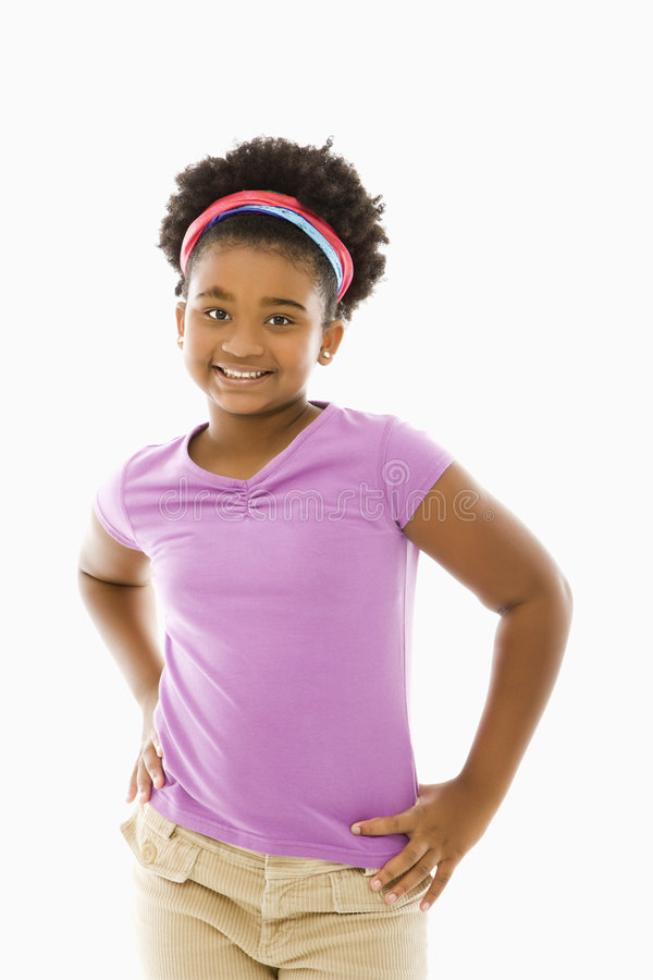Free African American Girl. Royalty Free Stock Photo - 3423405