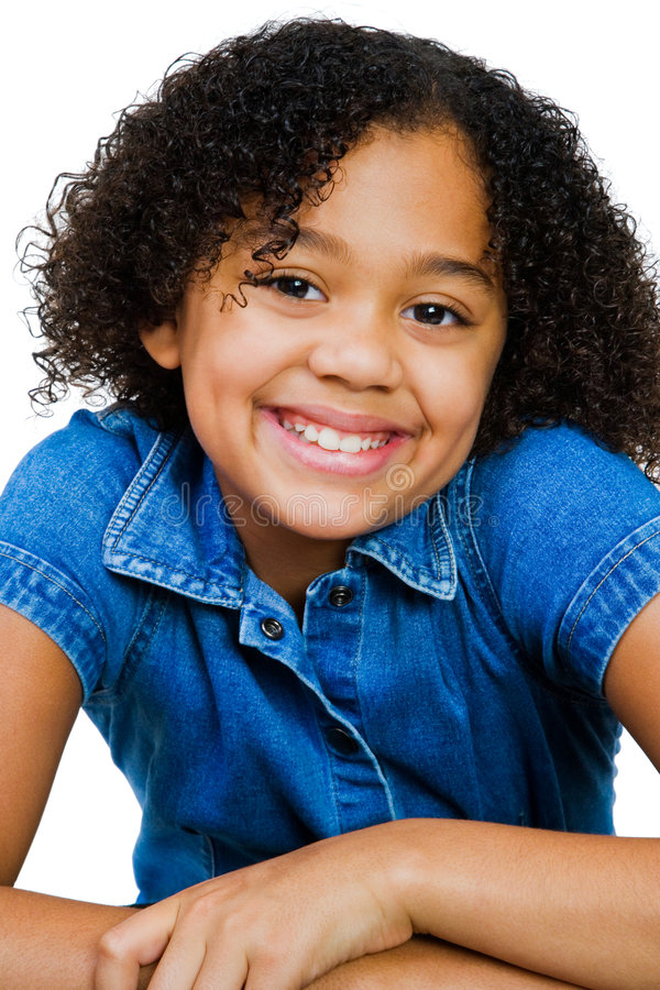 African-American Girl Posing royalty free stock photography
