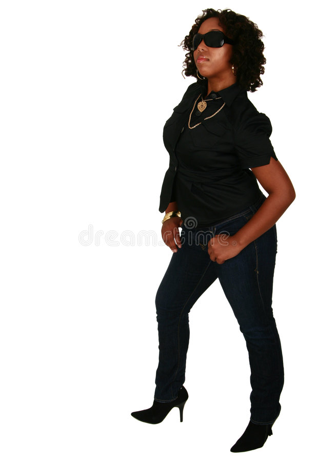 Free African American Girl Posing W Royalty Free Stock Images - 2815409