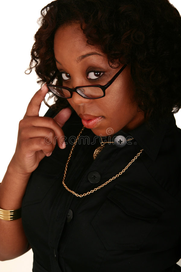 African American Girl Pull Dow royalty free stock image