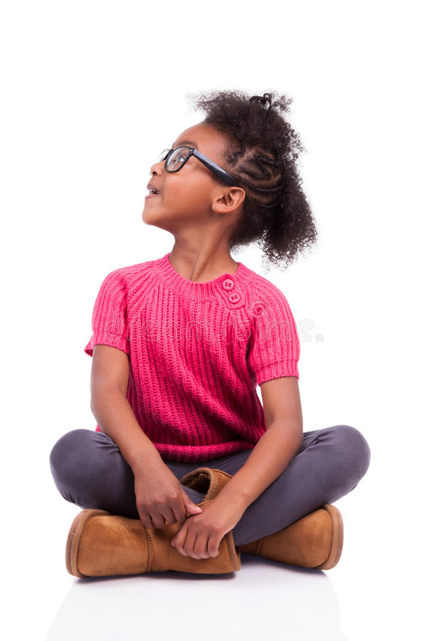 Download African American Girl Seated On The Floor Stock Image - Image: 27465547