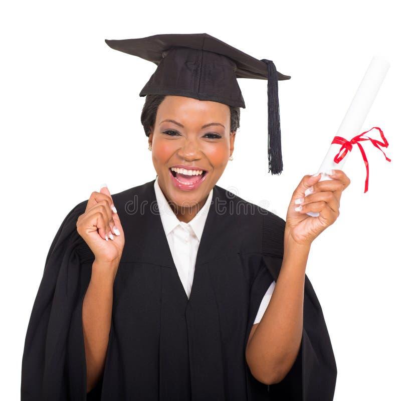 African american graduate stock image