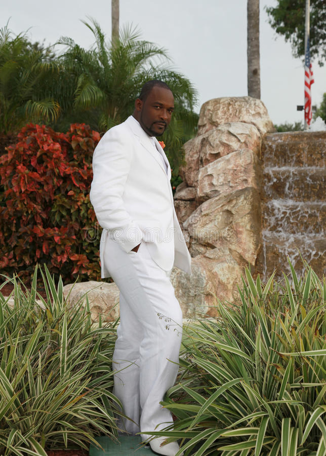African American Groom royalty free stock photography