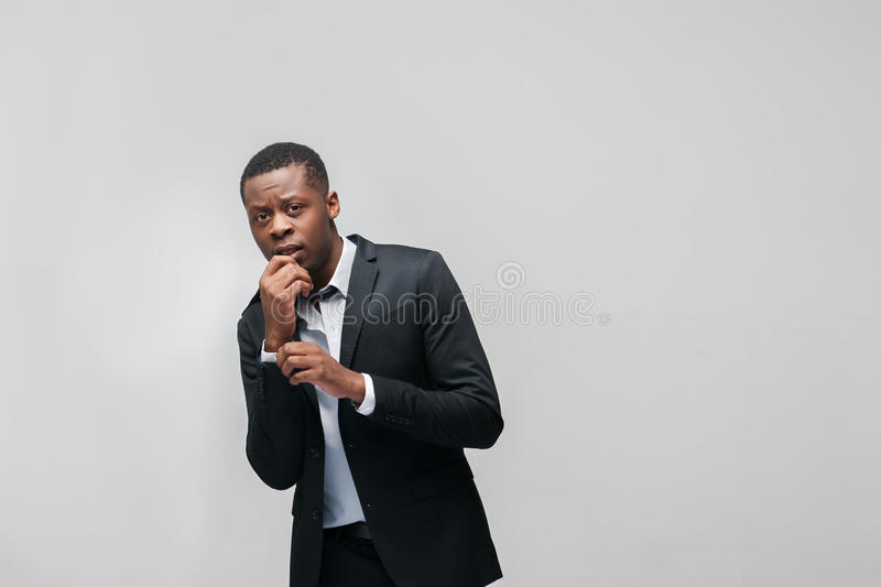 African american guy stressed by personal troubles royalty free stock image