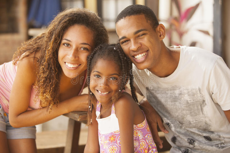 African american happy family royalty free stock photo