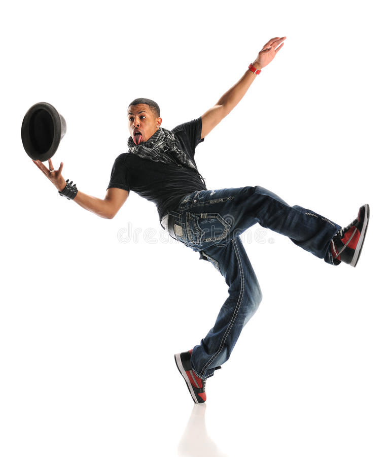 African American Hip Hop Dancer Performing stock images