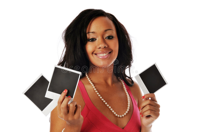 Download African American Holding Snapshots Stock Photo - Image: 9289656