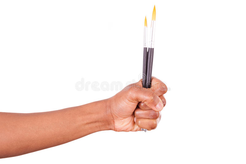 African American journalist protesting against terror and for ex. Pression freedom royalty free stock image
