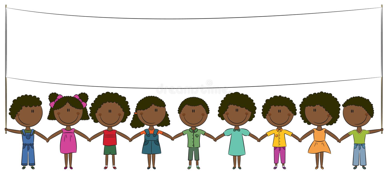 African-American kids royalty free illustration