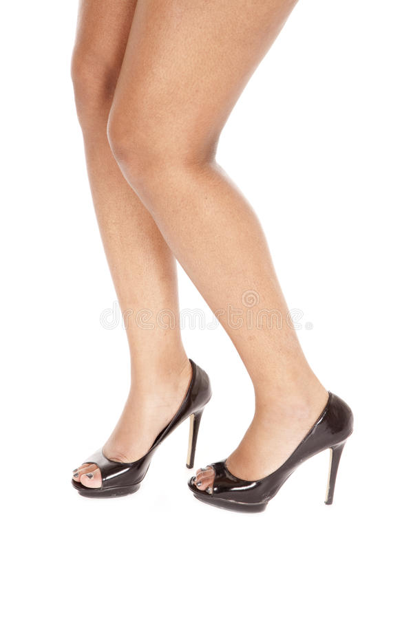 African American Legs Stand Stock Photo