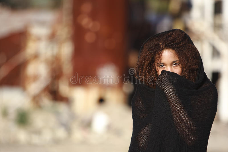 African-American in a lifestyle fashion stock photography
