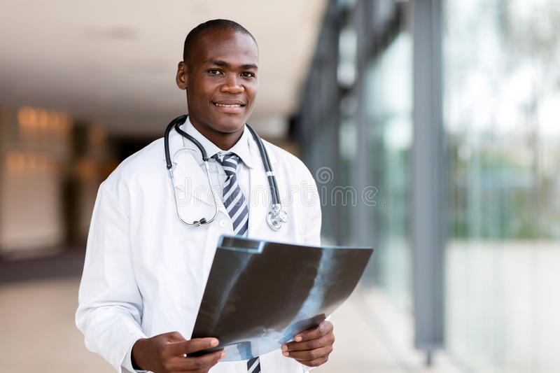 African american male doctor royalty free stock image