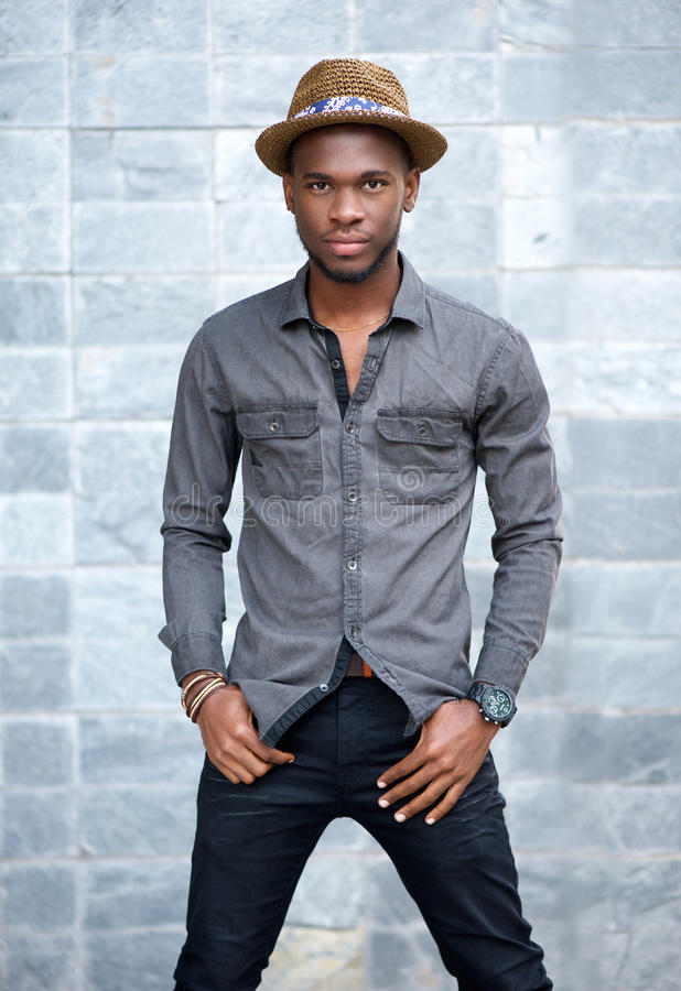 Free African American Male Fashion Model With Hat Stock Photo - 50038580