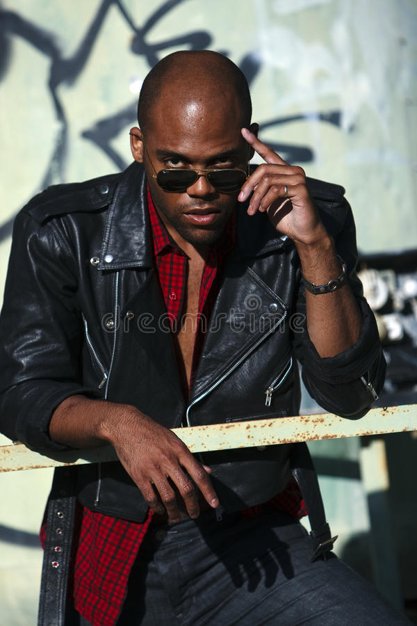 African-American male lifestyle fashion royalty free stock photos
