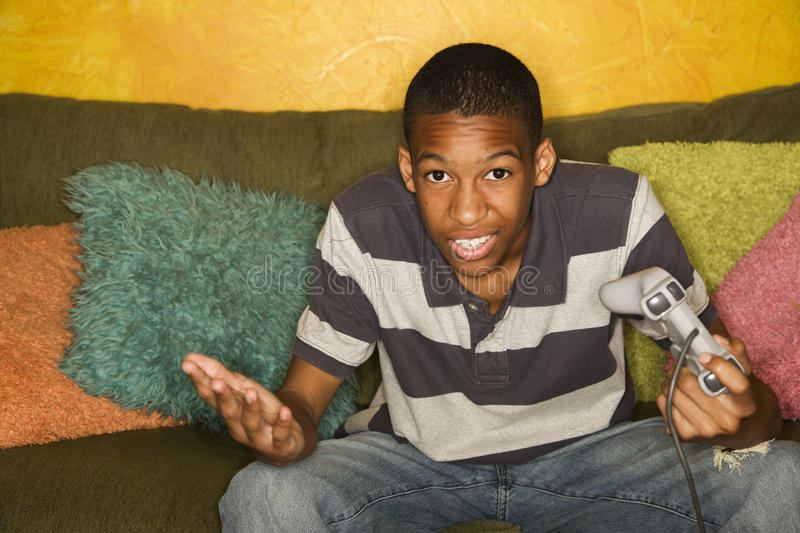 Download African-american Male Playing Video Games Stock Image - Image: 15685251
