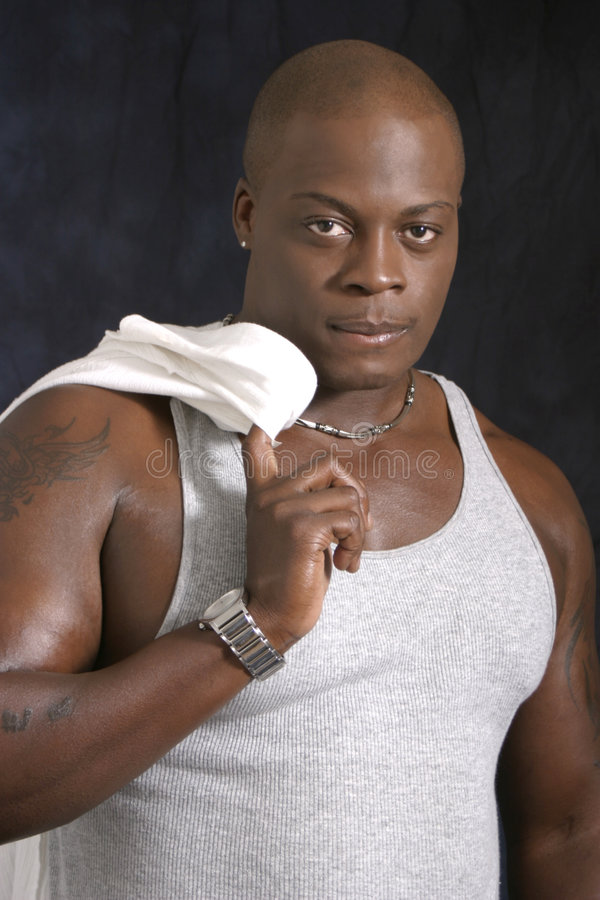 African American Male in Tank Top stock photo