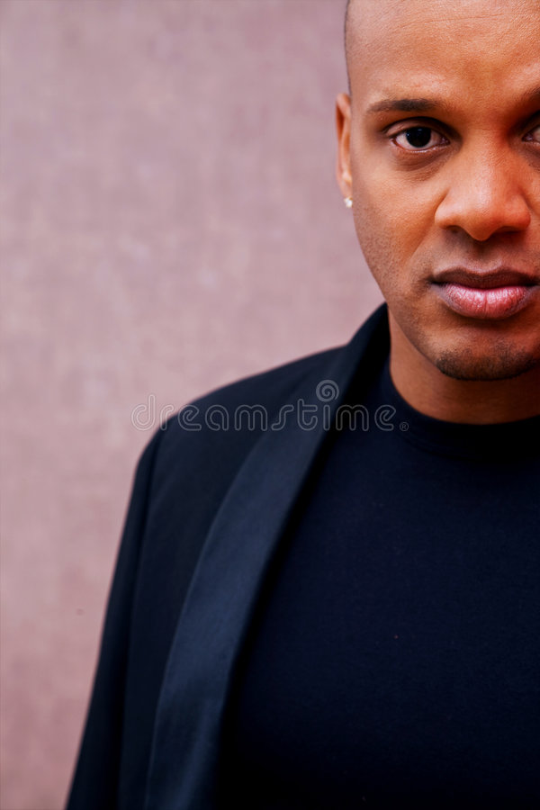 African American man. Portrait on texture royalty free stock images