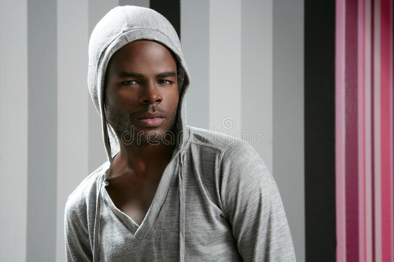 Download African American Man With Gray Hood Stock Image - Image of face, african: 12060027