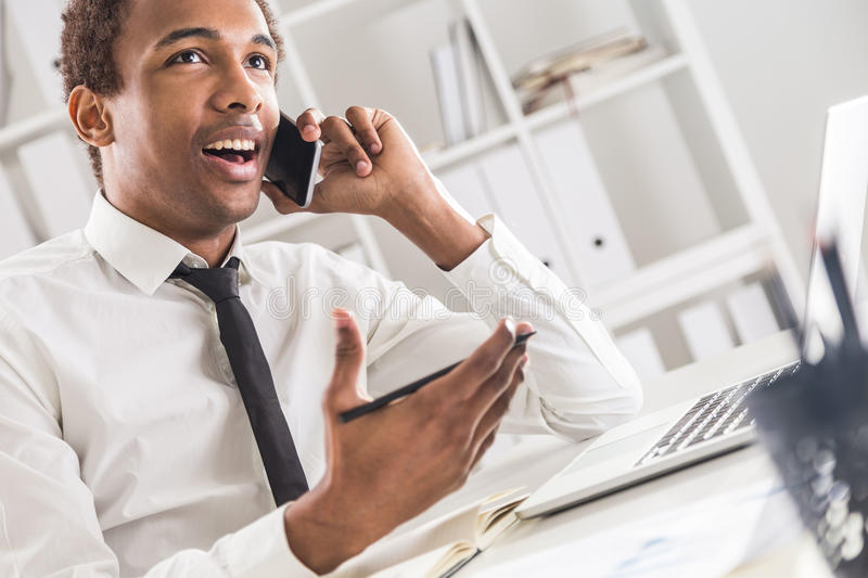 African american man in office stock image